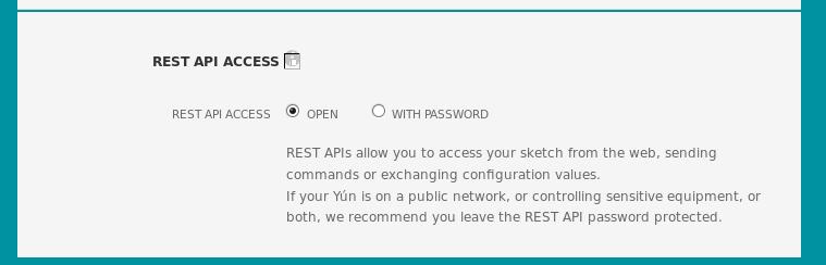 API REST yun