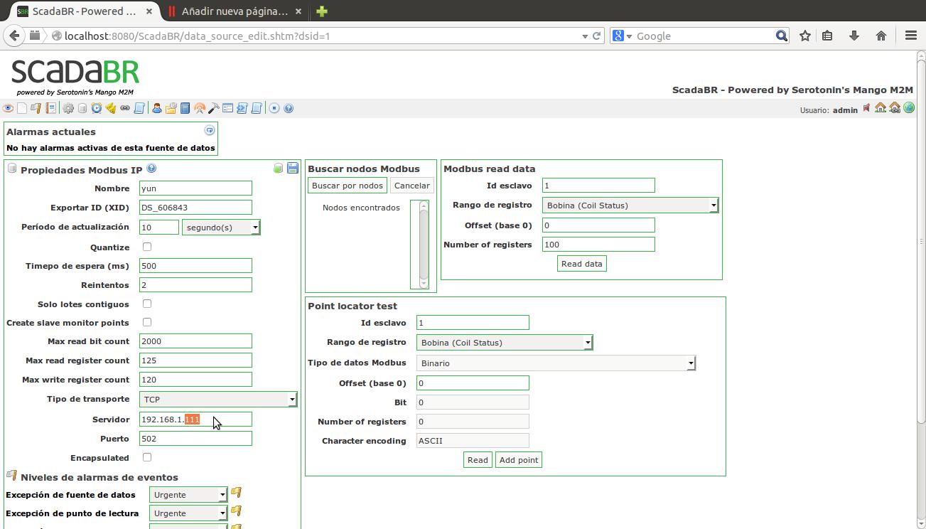 Configurar adquisición de datos Modbus TCP   radsys